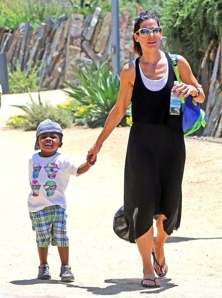 Sandra Bullock and Son Louis at the Natural History Museum ... Sandra Bullock Museum