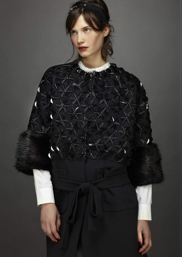 A jeweled, fur-trimmed cape? Yes, please! Source: Marni