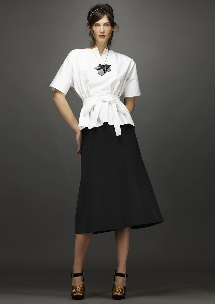 Introducing a new take on the crisp, white shirt! Source: Marni