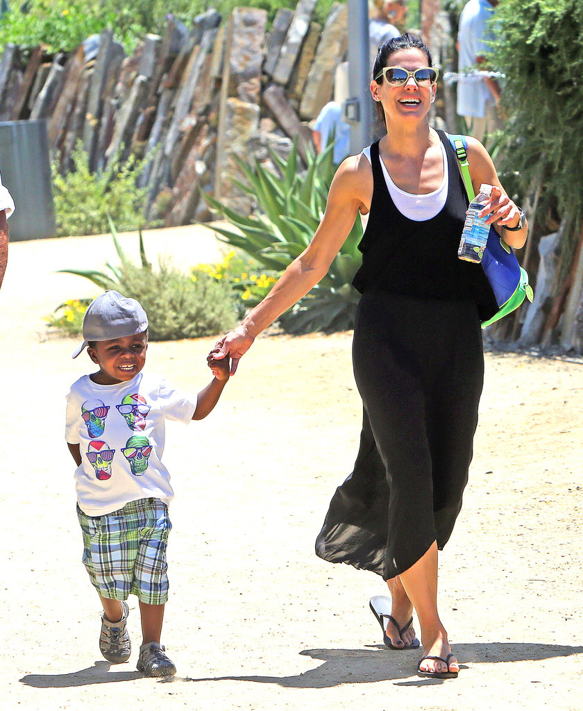 Sandra Bullock took her son, Louis, to the Natural History Museum in LA on Friday.