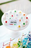 Colorful Heart Cake Pops