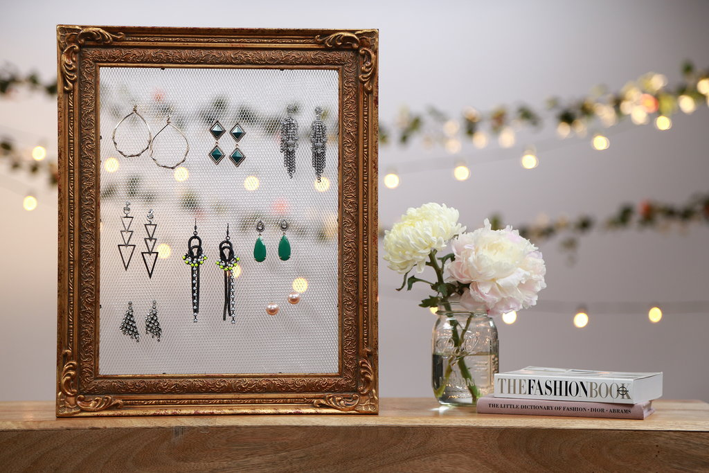 Make This Adorable Vintage-Frame Earring Holder