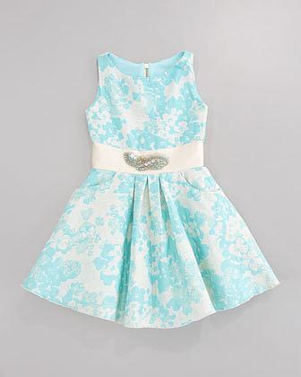 Zoe Brocade Pocket Swing Dress, Sizes 2-6