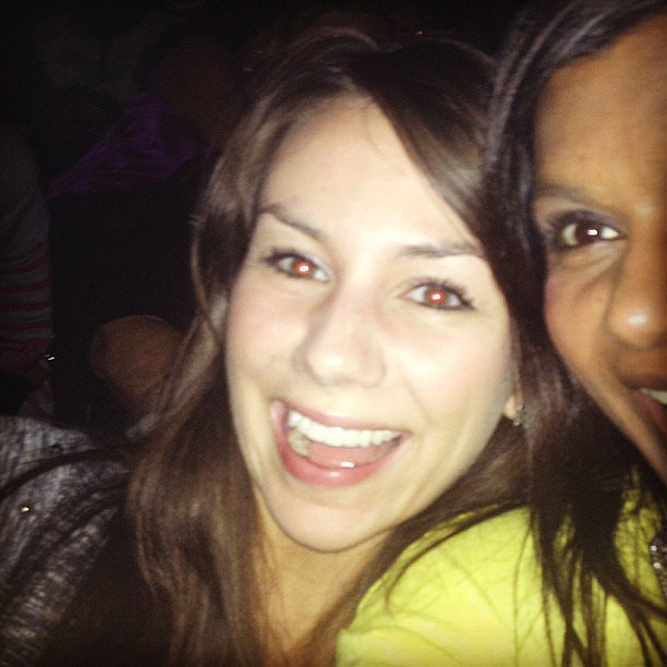 Mindy Kaling shared a photo of her at the Beyoncé Knowles concert in LA. Source: Instagram user mindykaling