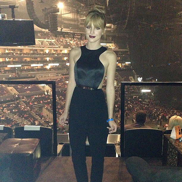 Bella Thorne popped up at Beyoncé Knowles's show at the Staples Center. Source: Instagram user bellathorne