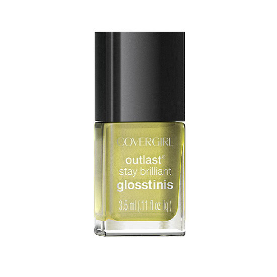 CoverGirl Glosstinis in Piña Colada ($3) is a petite bottle of polish containing a sweet shade of pale yellow. The full-coverage hue will pop on any skin tone, especially with a (faux) tan.