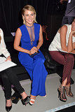 Julianne Hough wore a sexy blue jumpsuit to the Georges Hobeika show on Monday.