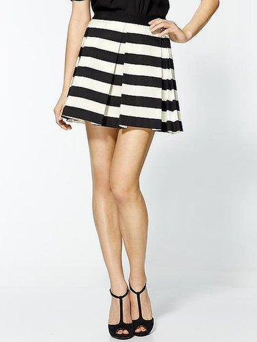 Robert Rodriguez Graphic Stripe Box Pleat Skirt