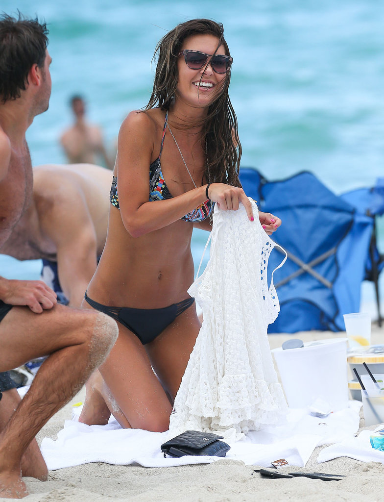 Audrina Patridge laughed on a Miami beach in June.
