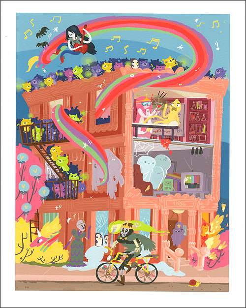 Apartment in the Land of Ooo ($60) by Kassandra Heller Giclee, signed, 8-inch by 10-inch