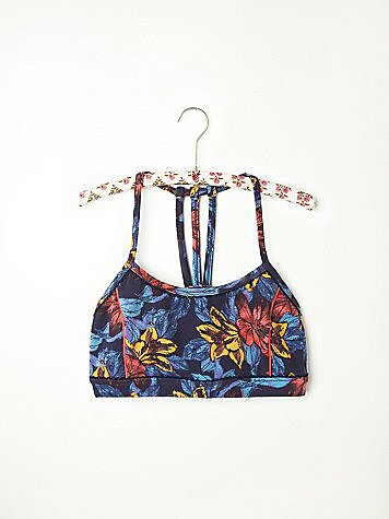 Free People Printed Sports Bra