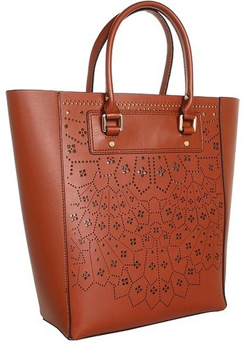 BCBGMAXAZRIA - Sienna Lazer Cut Tote (Cognac) - Bags and Luggage