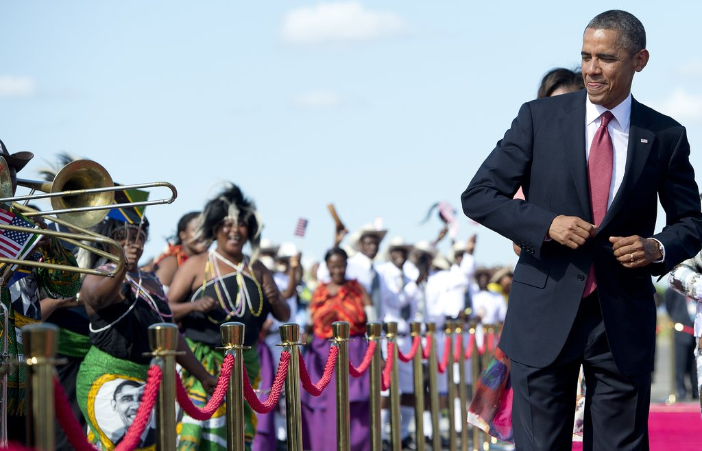 President Obama danced to music in Tanzania in July.