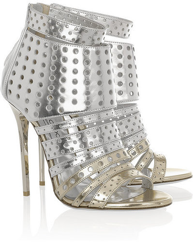Jimmy Choo Malika perforated leather sandals