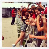 Carly Rae Jepsen met a group of her fans during a Canada Day celebration. Source: Instagram user carlyraejepsen
