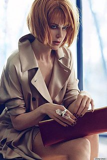 Nicole Kidman With a Short Red Bob Hair For Jimmy Choo