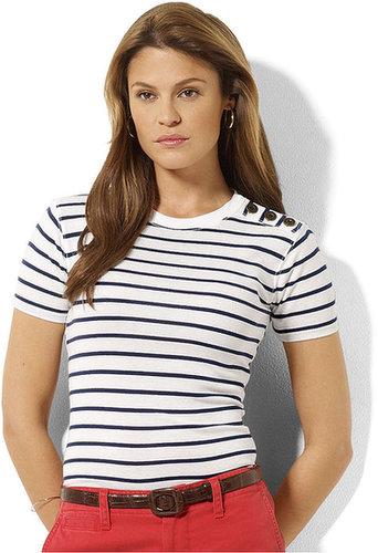 Lauren Ralph Lauren Lauren Jeans Co. Top, Short-Sleeve Crew-Neck Striped Tee