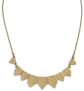 Golden pennant necklace
