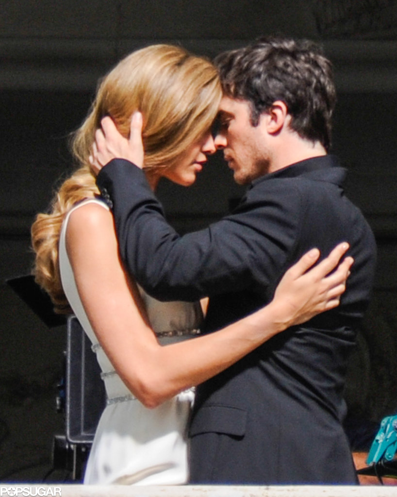 Ian Somerhalder got hot on the set with model Ana Beatriz Barros for a commercial shoot in Lake Como, Italy.