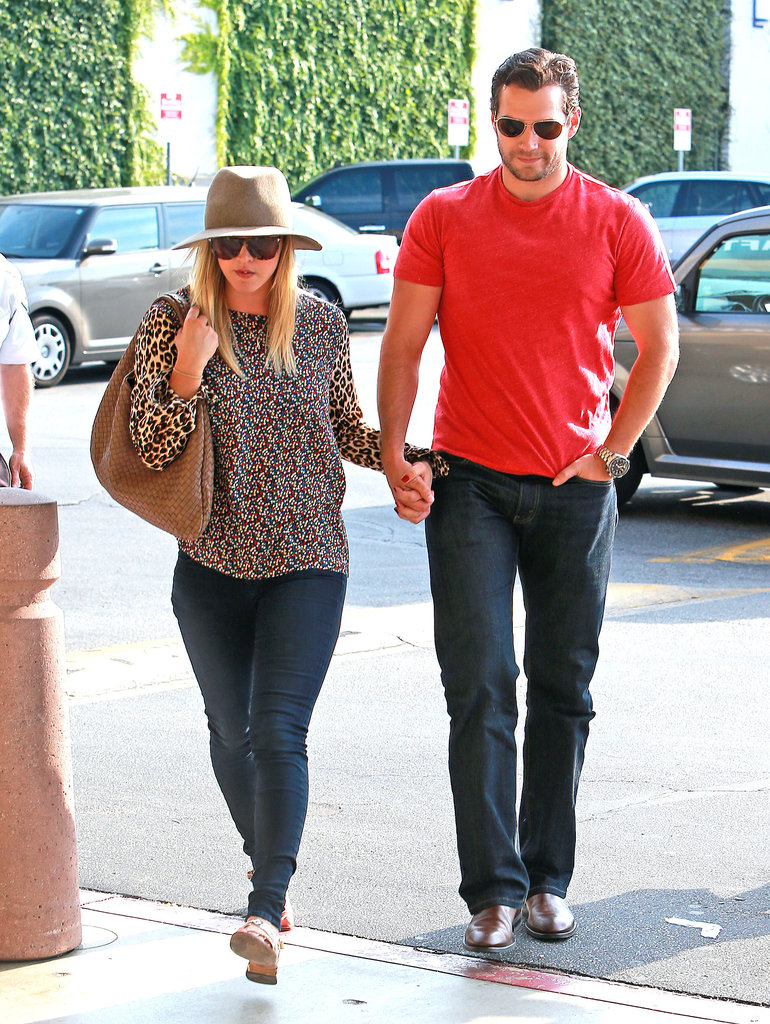 Henry Cavill and Kaley Cuoco went shopping together.