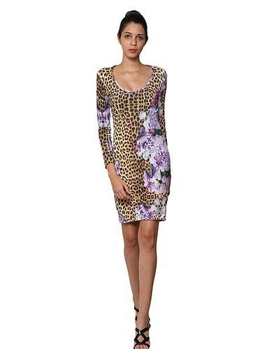 Printed Light Crepe Jersey Dress