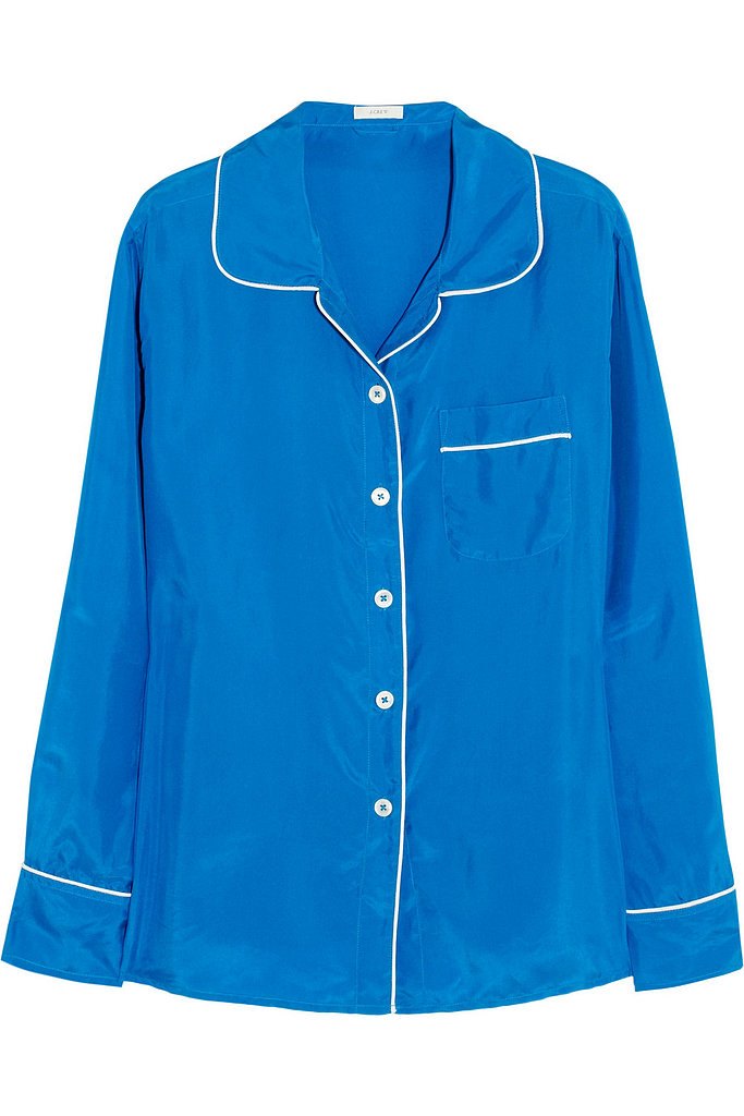 While intended as an actual sleep shirt, a little bit of clever styling will take this J.Crew pick ($38, originally $128) straight to dinner.