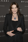Carla Bruni at the unveiling of the Bulgari Diva fine jewelry collection in Paris.  Photo courtesy of Bulgari