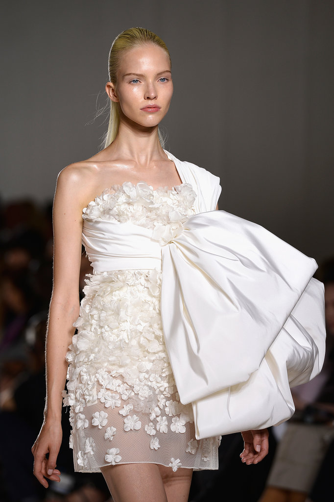 The oversize bow at Giambattista Valli Haute Couture Fall 2013 was gorgeous from far away and a showstopper up close.
