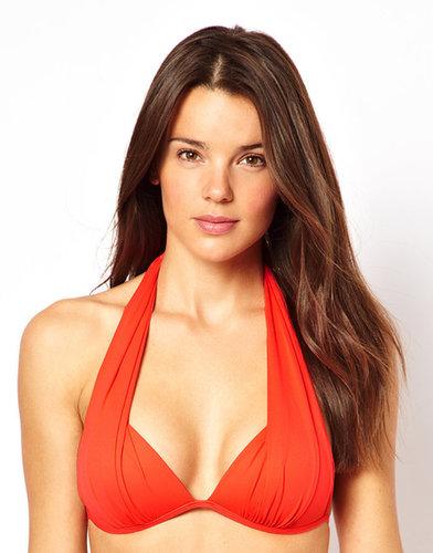 Seafolly Goddess Draped Moulded Triangle Bikini Top