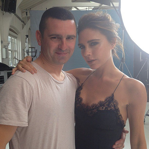 Victoria Beckham shared a behind-the-scenes snap from a photo shoot. Source: Instagram user victoriabeckham