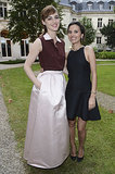Virginie Ledoyen and Louise Bourgoin were garden party ready while taking outdoors at Bulgari's Diva event.