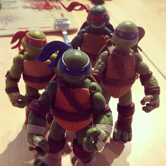 Joel Madden enjoyed some breakfast fun with Sparrow's Teenage Mutant Ninja Turtles. Source: Instagram user joelmadden