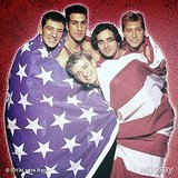 Lance Bass shared this hilarious throwback photo from a patriotic *NSYNC photo shoot. Source: Instagram user lancebass
