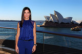 Sandra Bullock smiled for a picturesque photo opportunity in front of the Sydney Oper House n July 2. She was in town to attend the premiere of The Heat on Monday night.
