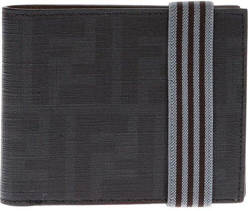 Fendi logo leather billfold wallet