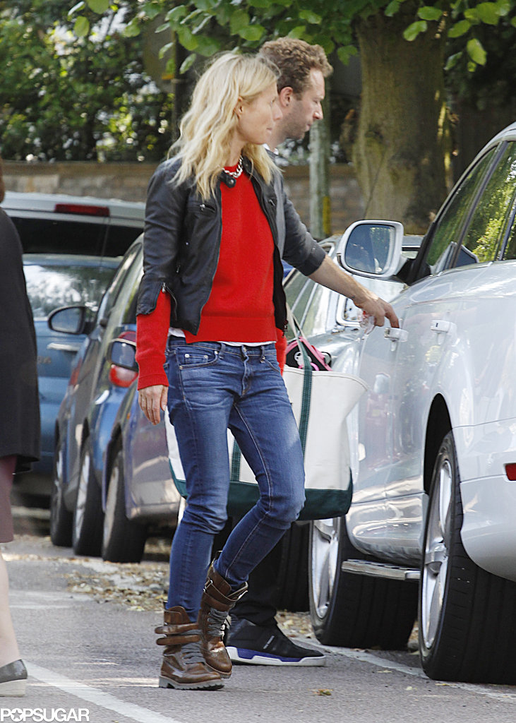 Gwyneth Paltrow and Chris Martin hung out together in London.