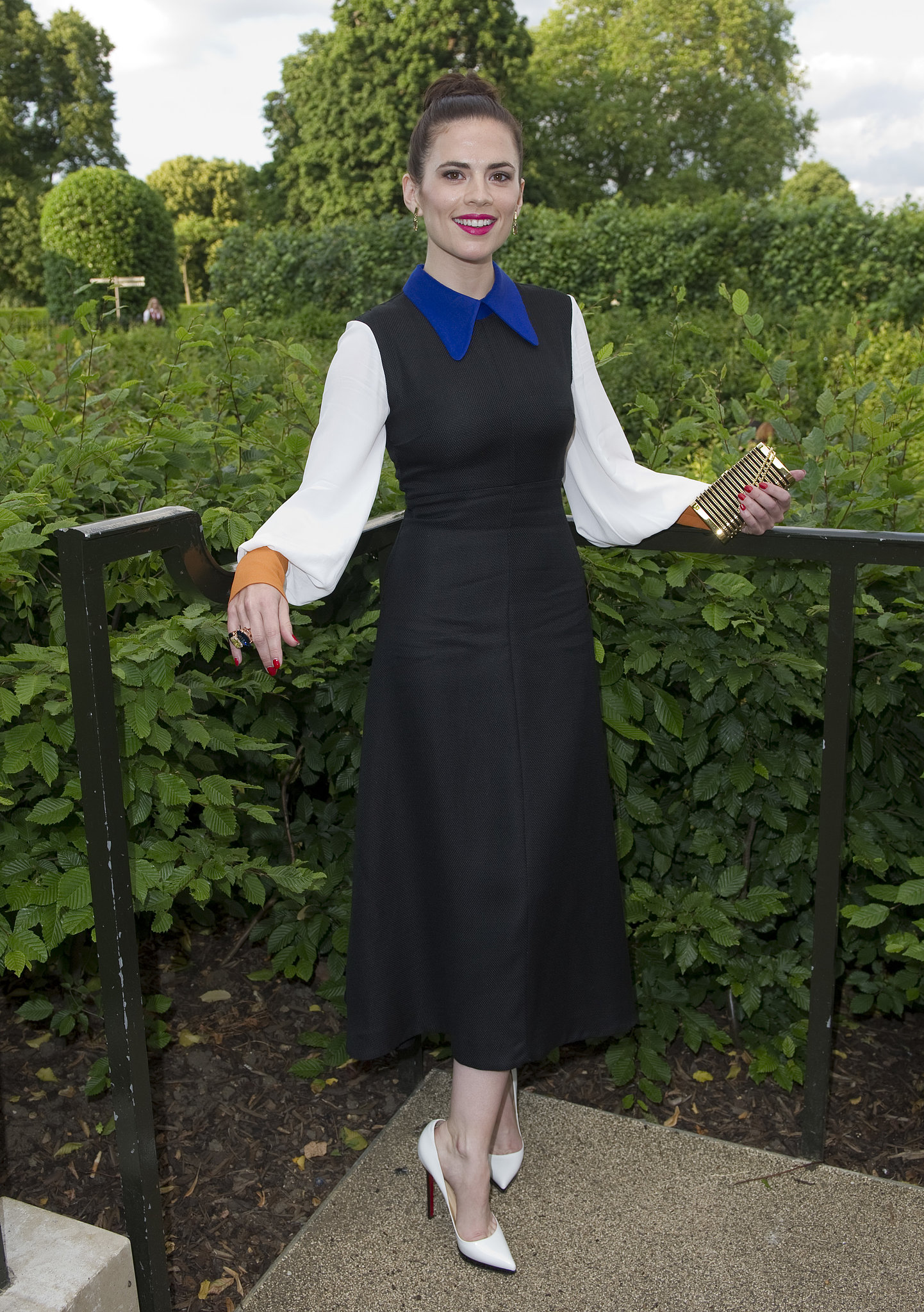 Hayley Atwell took in the palatial view at the launch of Fa