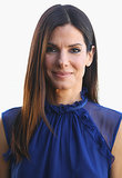 Sandra Bullock brightened up her signature look while on tour for her latest movie, The Heat. She added a touch of royal blue eyeliner on her bottom lash line at her Sydney stop, and the color blended perfectly with her sheer top.