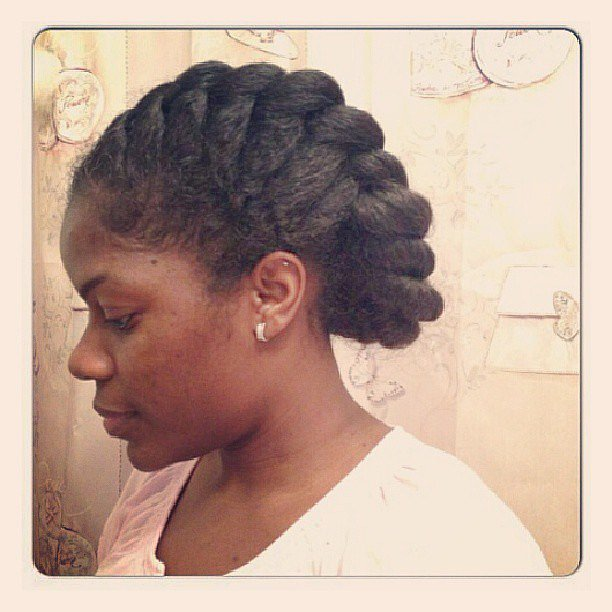 An oversize French braid is a great option for natural hair in the Summer. Source: Instagram user protectivestyles