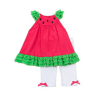 Skip the a.m. guesswork with Rare Editions' Watermelon Set ($23-$25) — an easy, head-to-toe look for babies and tots from 12 months to 4T.