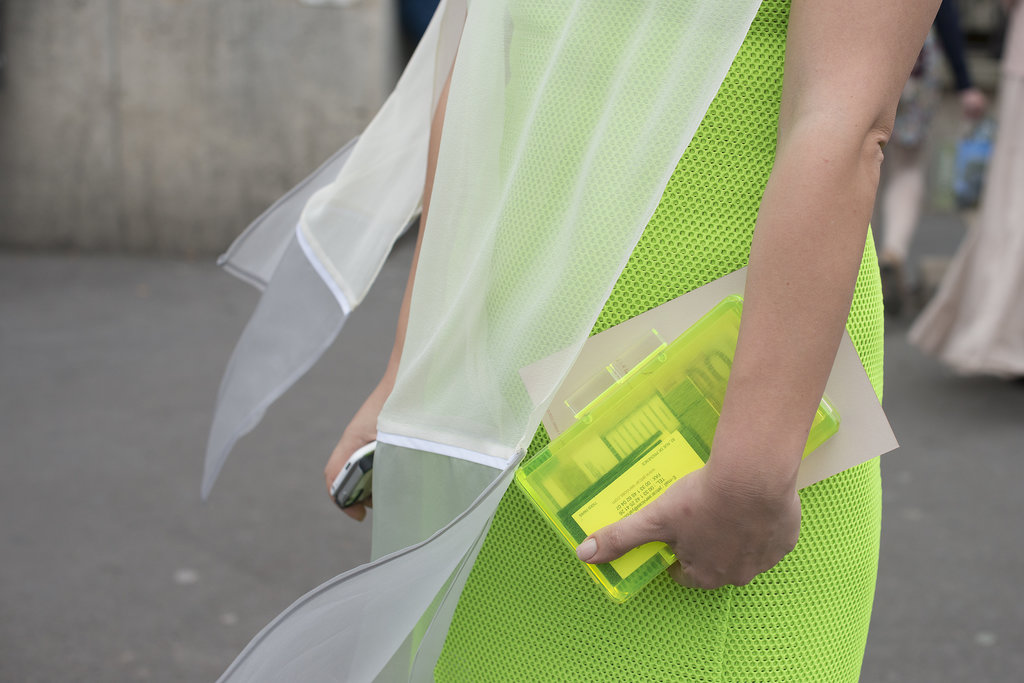 Why not match your bag to your neon green dress?