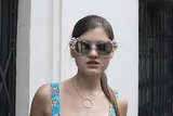 Floral-embellished shades are one surefire way to get noticed.