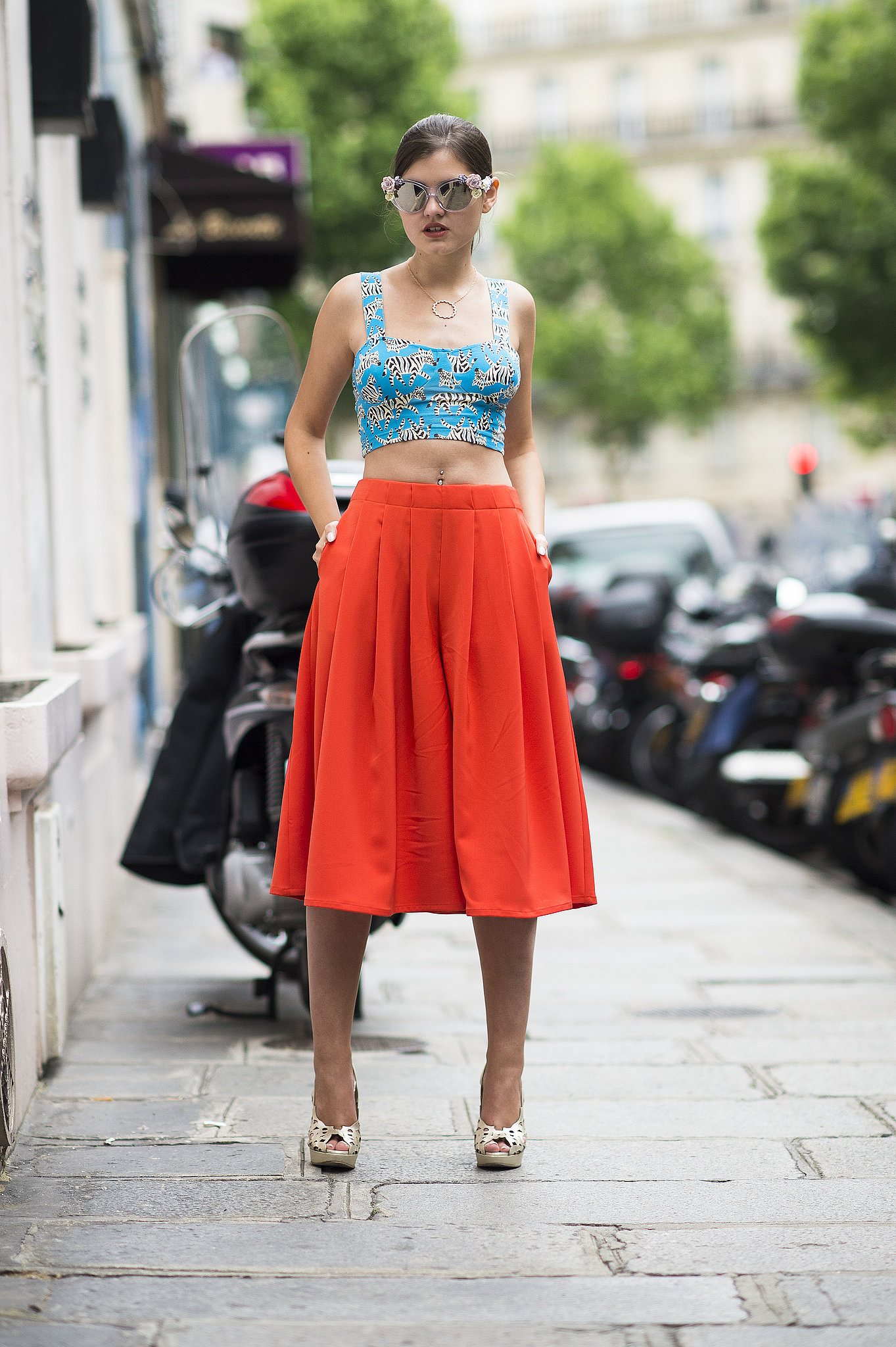 The perfect mate for a midi skirt? The crop top. Source: Le 21ème | Adam Katz Sinding