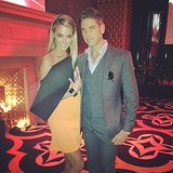 Jennifer Hawkins and Didier Cohen kept close at the launch party for Australia's Next Top Model. Source: Instagram user jenhawkins_