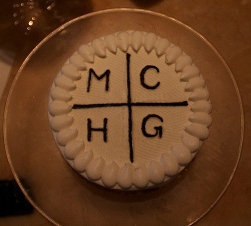 Beyoncé Knowles posted a photo of a Magna Carta Holy Grail cake in honor of husband Jay-Z's new album. Source: Tumblr user Beyoncé