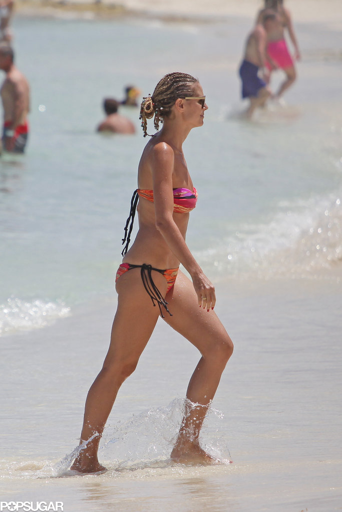 Heidi Klum Rocks a Bikini and Braids in the Bahamas
