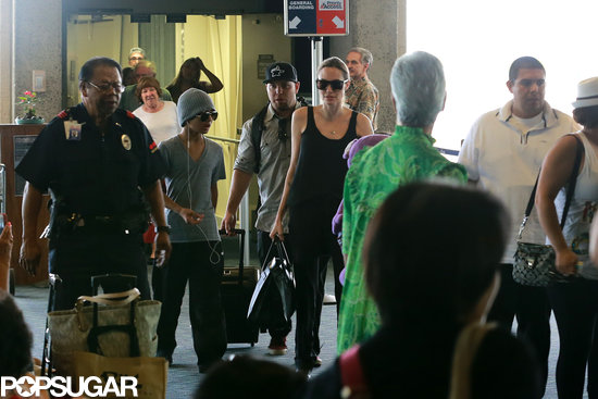 Angelina Jolie and her boys Maddox and Pax arrived in Hawaii together.