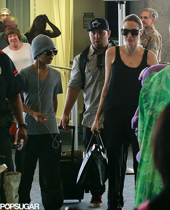 Angelina Jolie and her boys touched down in Hawaii.