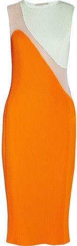 Stella McCartney Sheer plissé dress