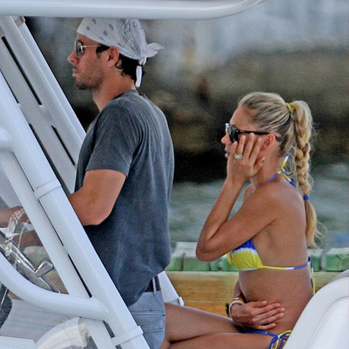 Anna Kournikova and Enrique Iglesias on a Boat in Miami